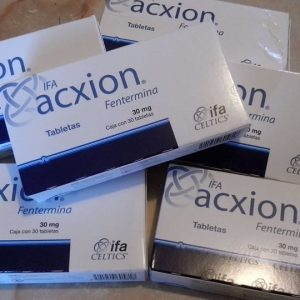 Name: Acxion Fentermina Generic name: Phentermine Strength: 30mg Package: 30 Tablets box
