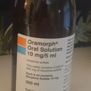 Oramorph Oral Solution 10mg/5ml Name: Oramorph Strength: 10mg/5ml Packaging: 300 ml bottle