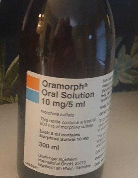 Oramorph Oral Solution 10mg/5ml Name: Oramorph Strength: 10mg/5ml Packaging: 300 ml bottle