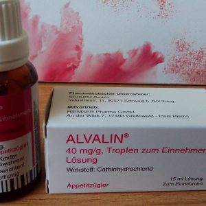 Name: Alvalin Strength: 40mg Packaging: 15 ml pack