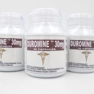 Name: Duromine Generic name: Phentermine Strength: 30mg Package: 30 Capsules box