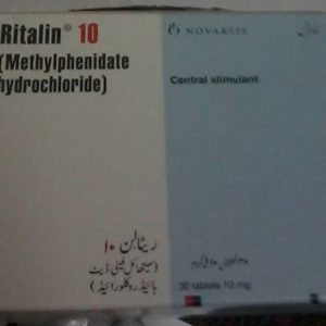 Name: Ritalin Generic name: Methylphenidate Strength: 10 mg Manufacturer: Roche